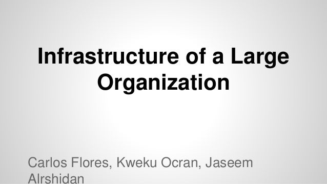 Infrastructure of a Large Organization Carlos Flores, Kweku Ocran, Jaseem Alrshidan