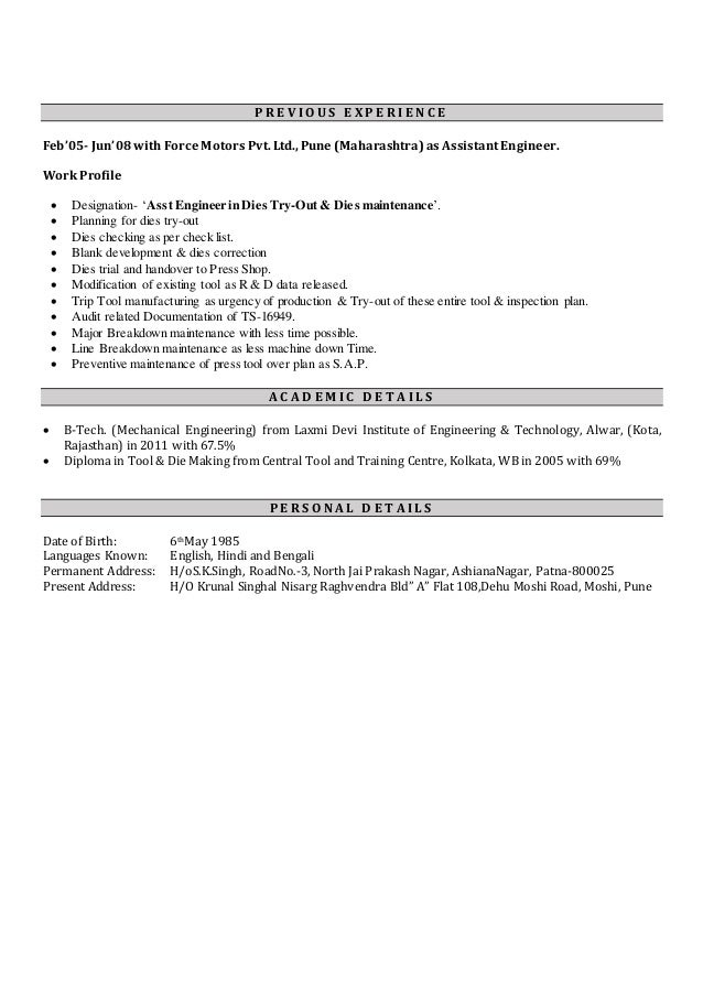 resume production manager