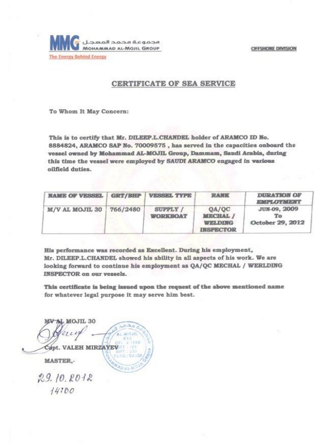 Certificate of sea service from mmg offshore 07 certificate of sea service from mmg offshore yadclub Choice Image