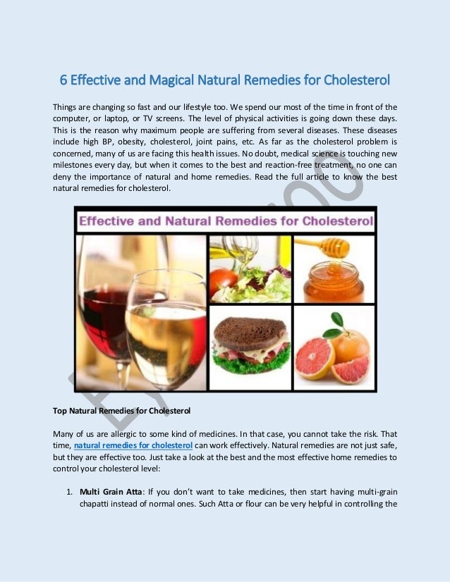 Effective And Magical Natural Remedies For Cholesterol