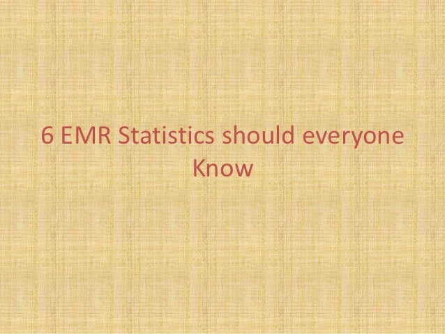 6 EMR Statistics should everyone              Know