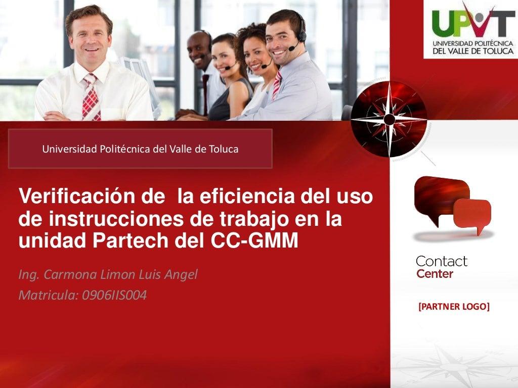 Evaluación presentación de estancia II Universidad Politecnica del Valle de Toluca