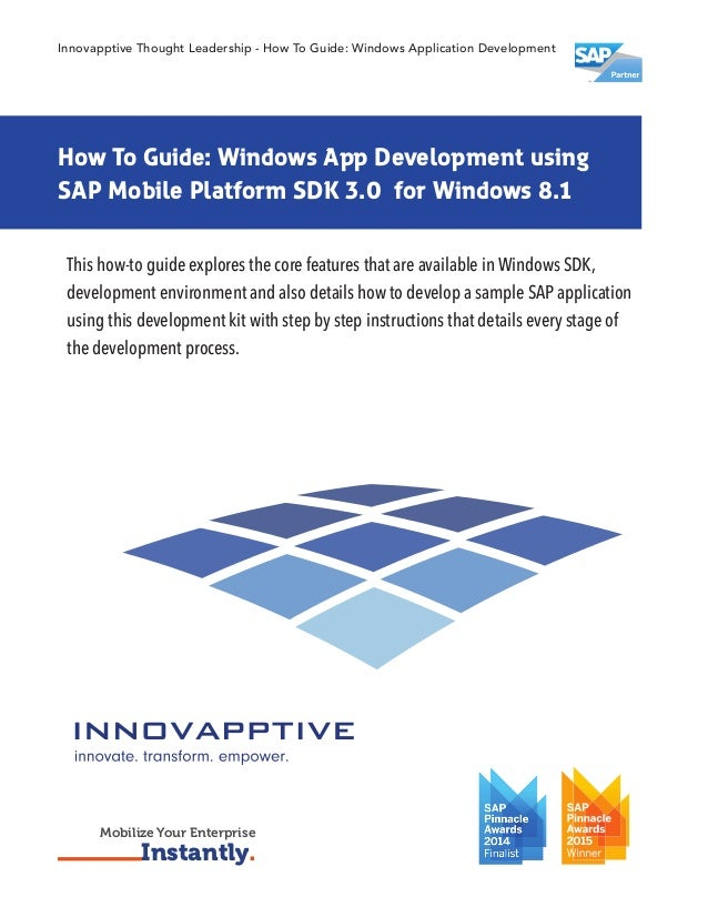 Learn how to develop an application using SAP Mobile