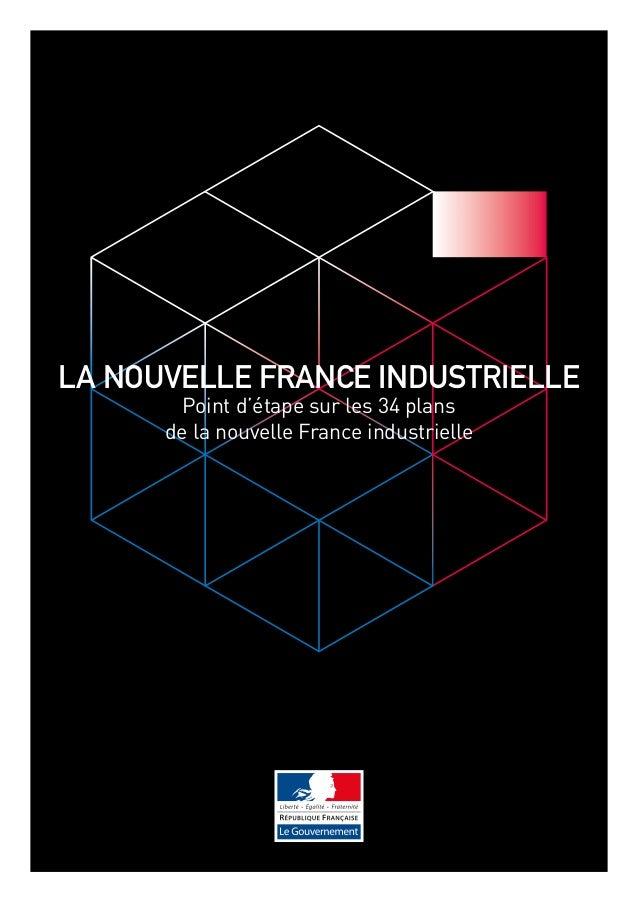 LA nouvelle france industrielle  Point d'étape sur les 34 plans  de la nouvelle France industrielle