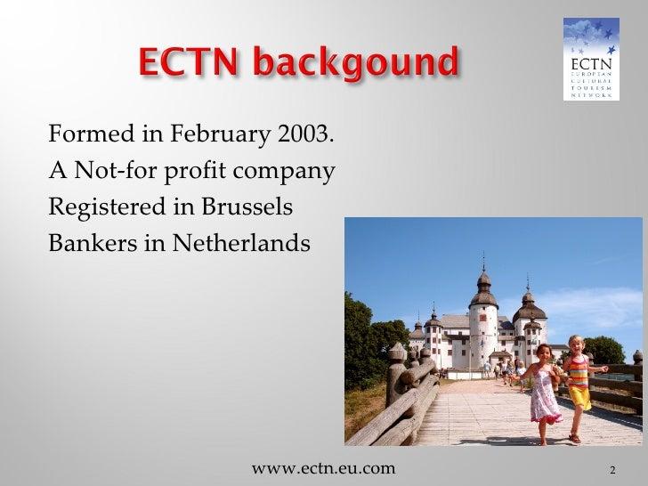 6 European Cultural Tourism Network By J Winton