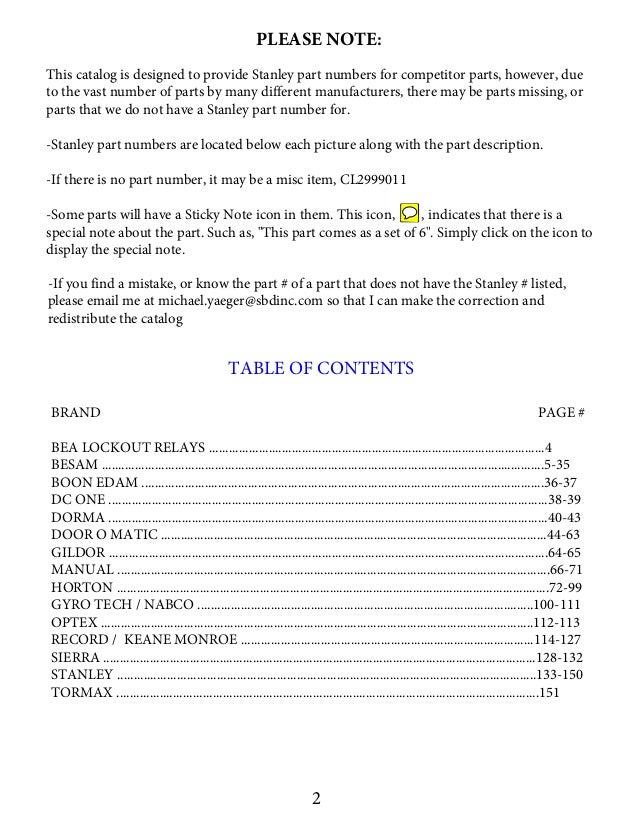 door control book with stanley numbers 8715 2 638?cb=1439339398 door control book with stanley numbers 8 7 15 stanley dura glide model j wiring diagram at alyssarenee.co