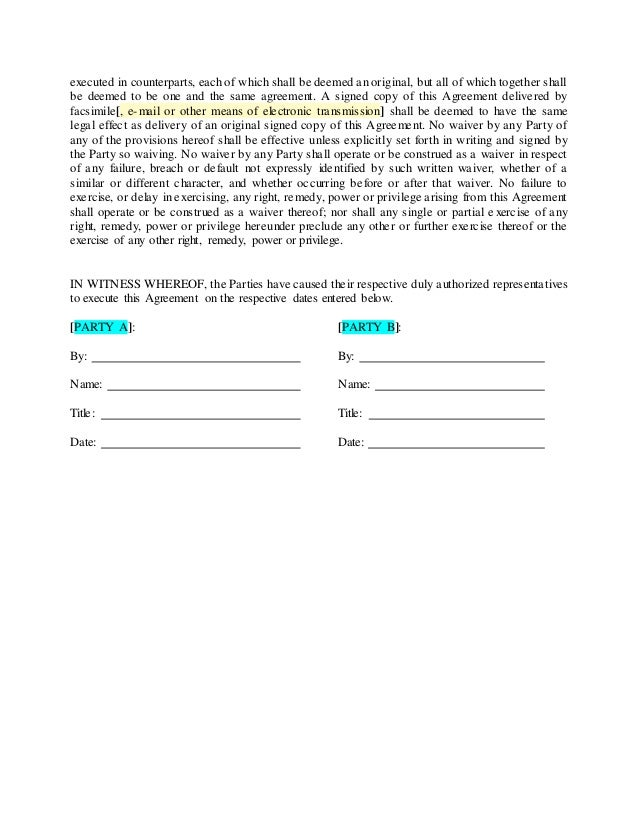 Nondisclosure Agreements Training Notes and Template – Training Agreement Template