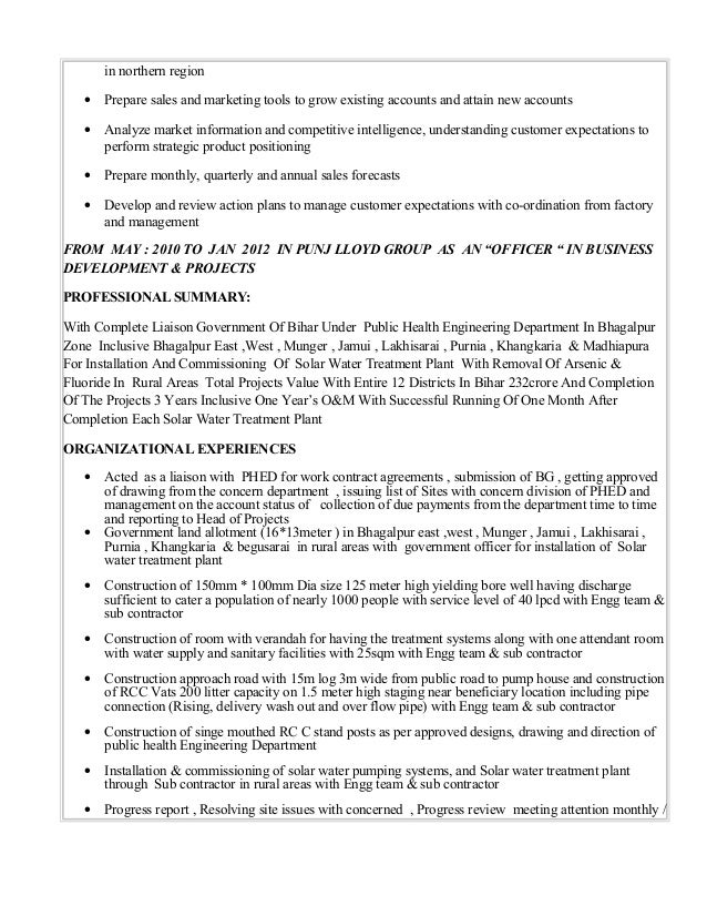 Outstanding Public Health Engineering Resume Inspiration ...