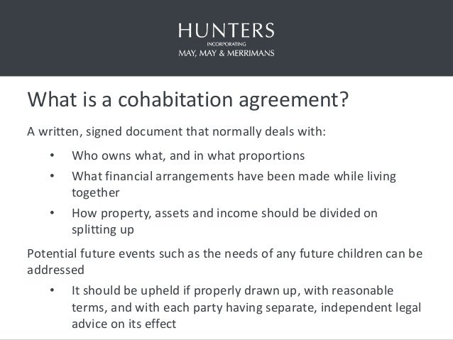 Cohabitation Agreements And The Agenda For Reform Th June