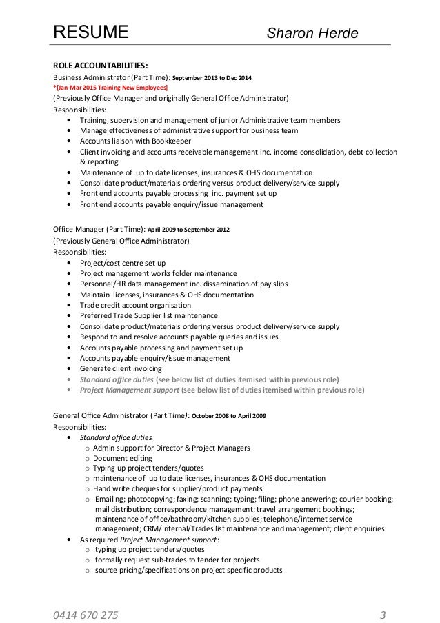 Sharon Herde Resume 26.03.15