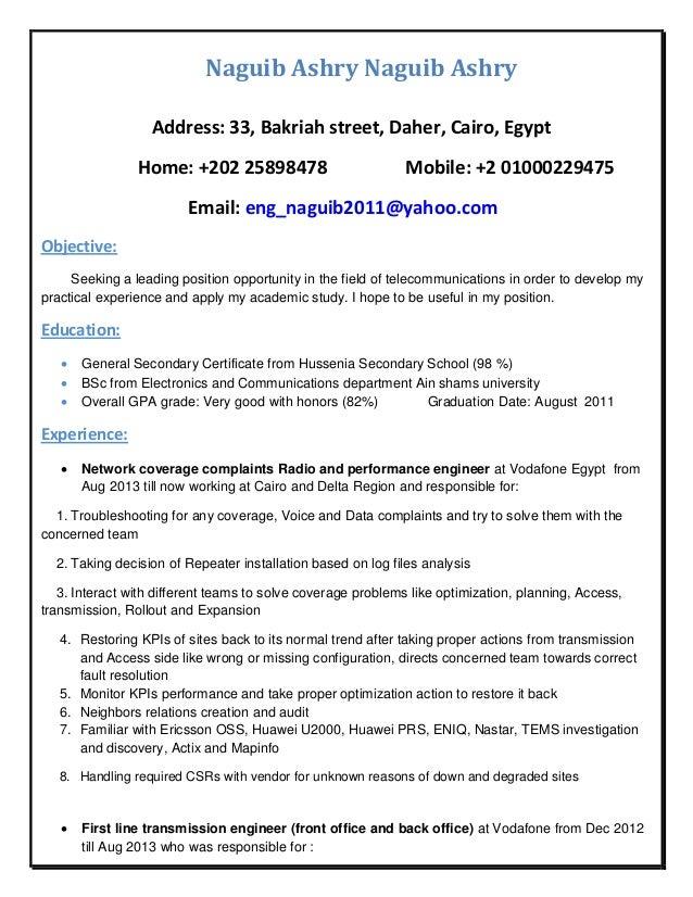 Naguib Ashry Naguib Ashry Address: 33, Bakriah street, Daher, Cairo, Egypt Home: +202 25898478 Mobile: +2 01000229475 Emai...