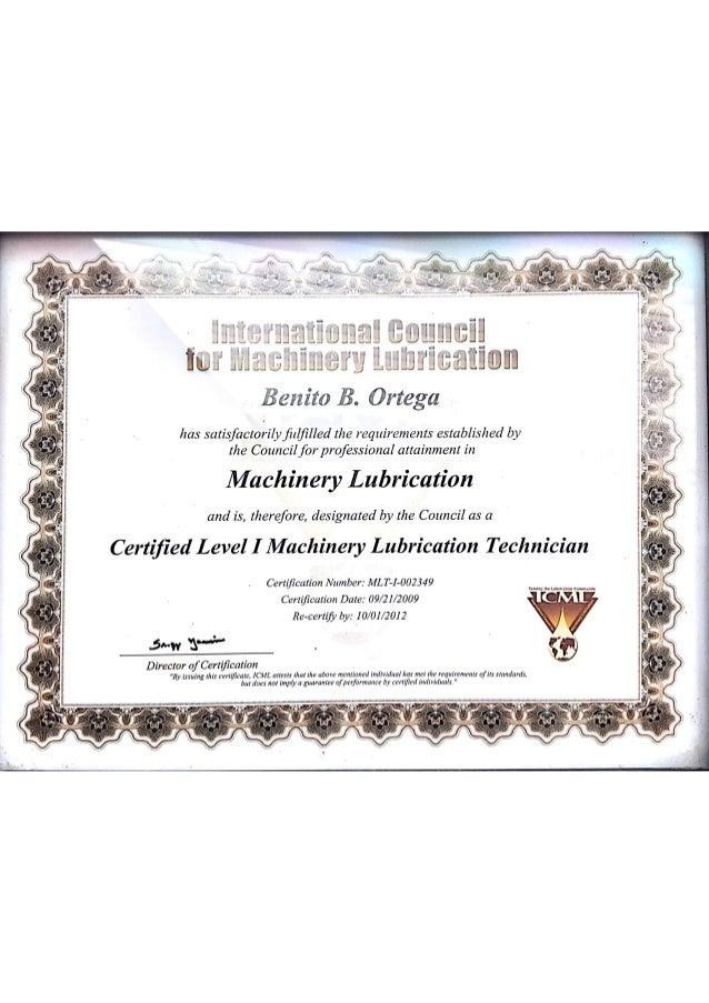 Mlt I Certification