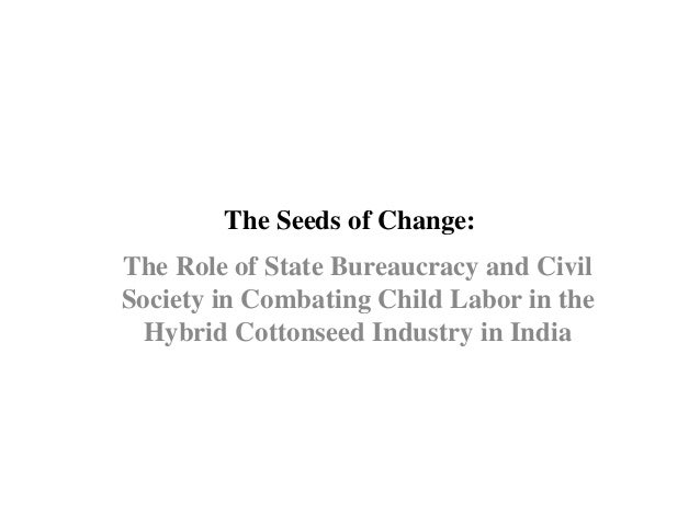 The Seeds of Change: The Role of State Bureaucracy and Civil Society in Combating Child Labor in the Hybrid Cottonseed Ind...