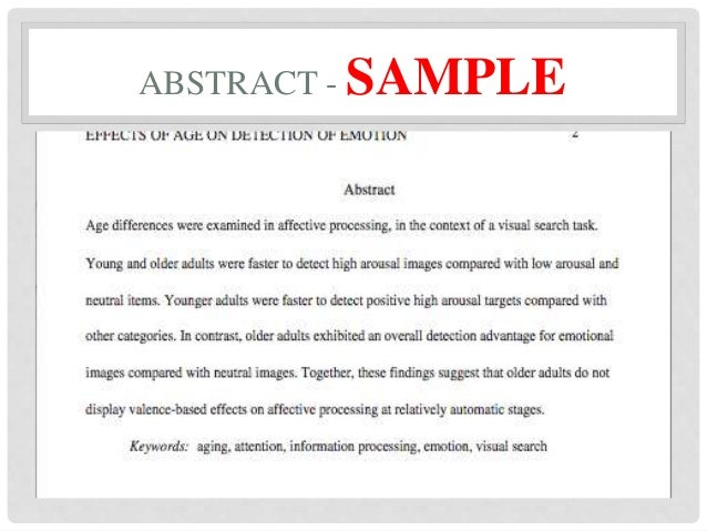 Online Writing Lab , formatting abstract