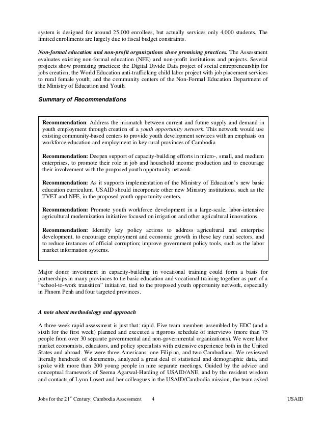 cambodia policy recommendation The working group will have 26 members from a wide spectrum of government and nongovernment agencies to produce policy recommendations to cambodia's leaders.