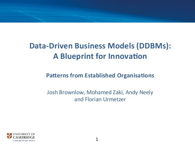 Data driven business model innovation blueprint data driven business models ddbms a blueprint for malvernweather Gallery