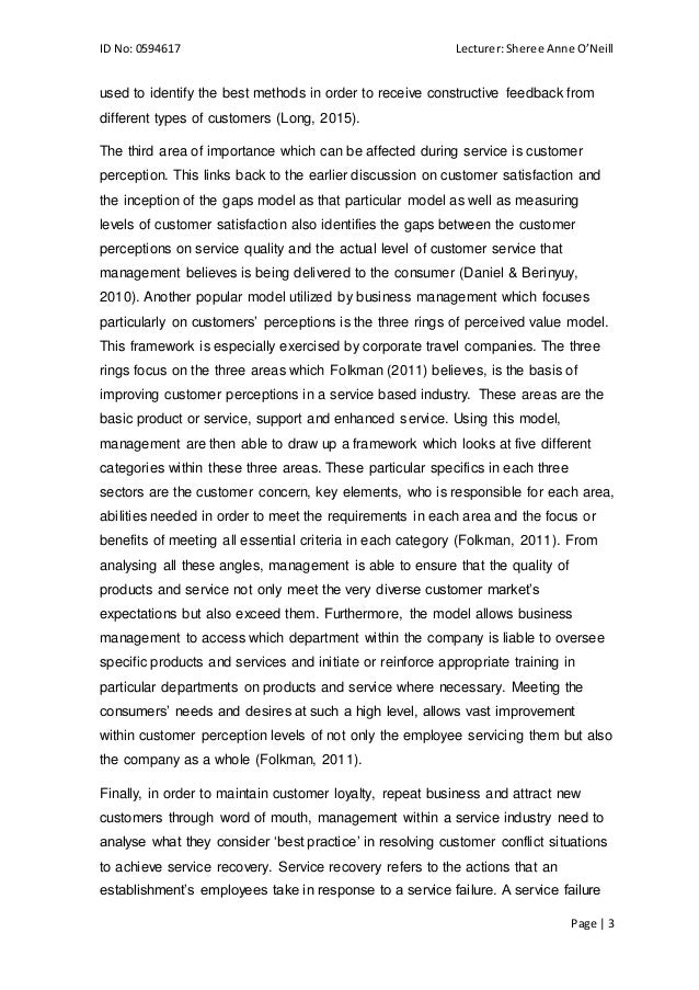 Persuasive essay on customer service
