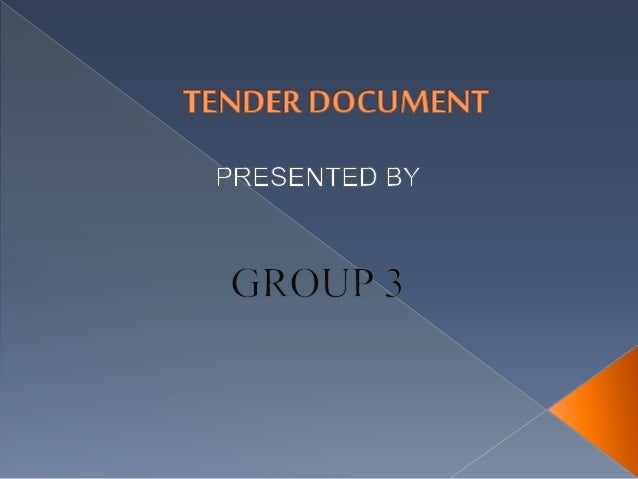  Section 1. Instructions to Tenderers (ITT)  Section 2. Tender Data Sheet (TDS)  Section 3. General Conditions of Contr...