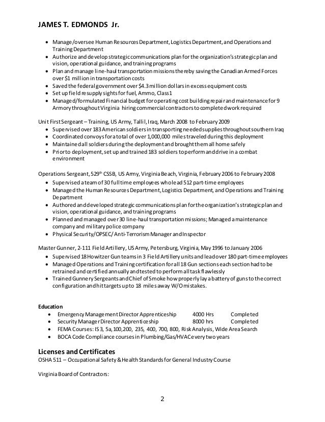 edmonds resume