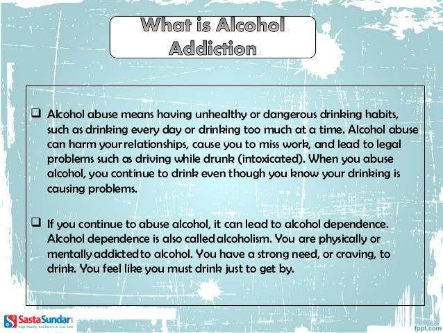 6 facts about alcohol addiction2  long term alcohol abuse