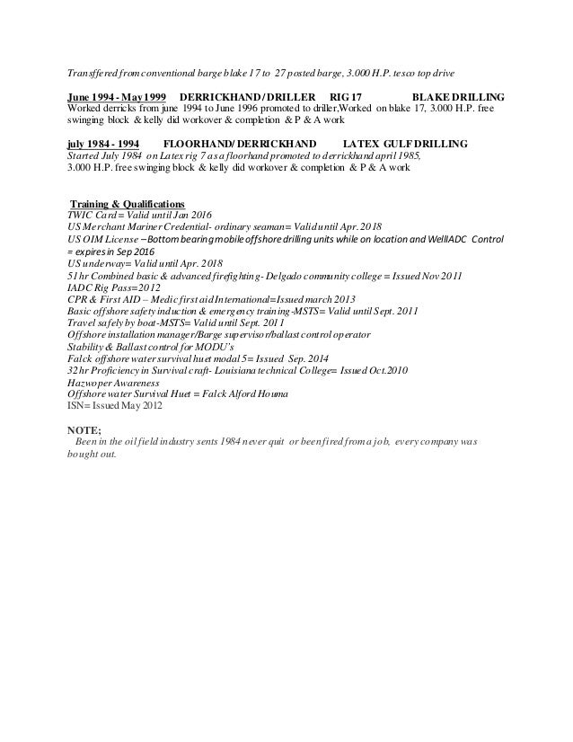 clarence Resume