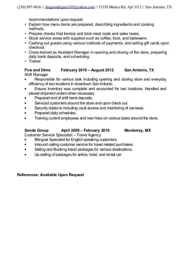 Resume Recommendations Cover Letter