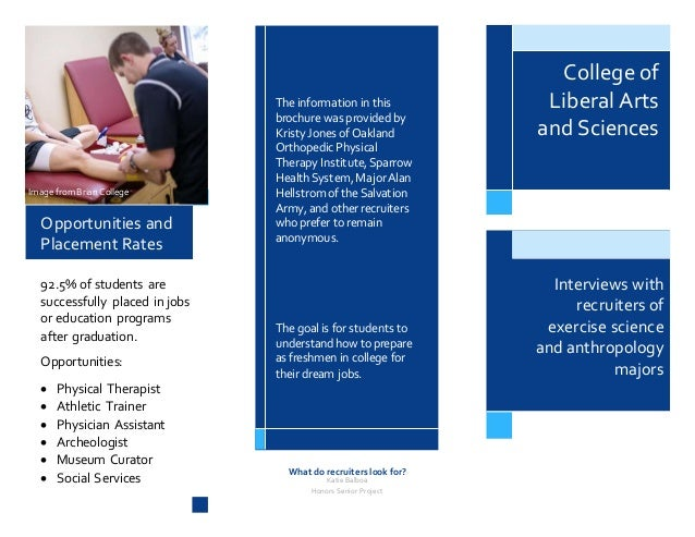 honors project brochure college of liberal arts and sciences