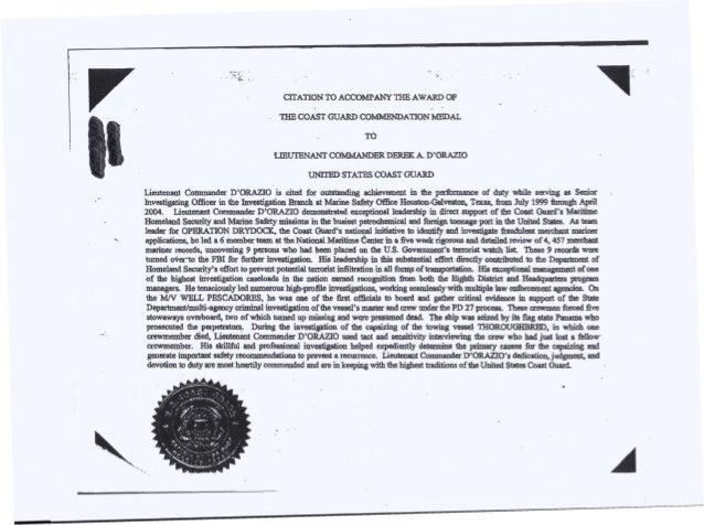 Lcdr dorazio april 2004 commendation medal k citation to spiritdancerdesigns Image collections