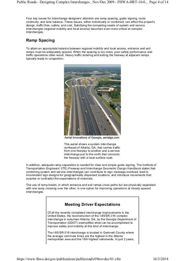 6 fhwa designing complex interchanges public roads