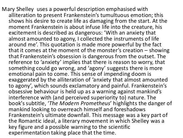 the plot of frankenstein essay Narrative in frankenstein shifts from robert walton to victor frankenstein to the monster and finally back to walton with each shift of perspective, the reader gains new information about both the facts of the story and the personalities of the respective narrators.