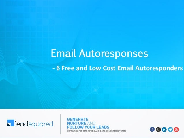 Email Autoresponses - 6 Free and Low Cost Email Autoresponders