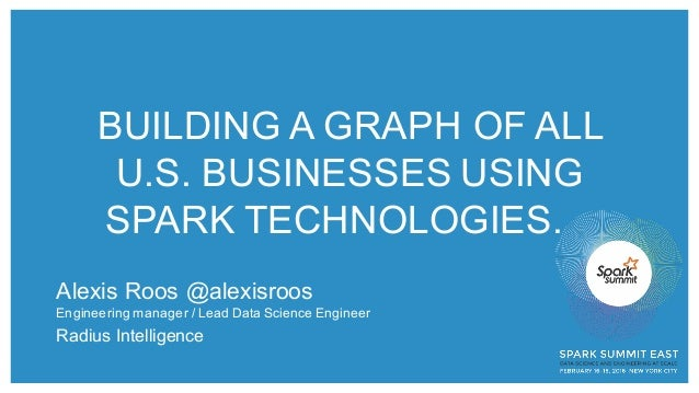 BUILDING A GRAPH OF ALL  U.S. BUSINESSES USING  SPARK TECHNOLOGIES.  Alexis Roos @alexisroos Engineering manag...