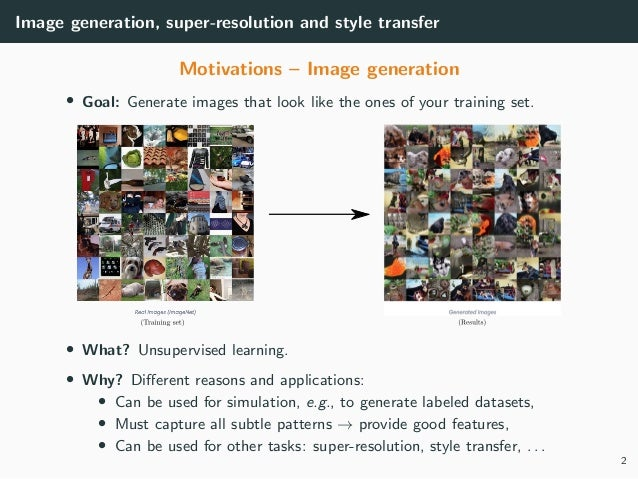 MLIP - Chapter 6 - Generation, Super-Resolution, Style transfer