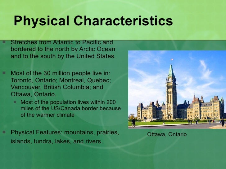 Geographic Regions - Physical characteristics of canada