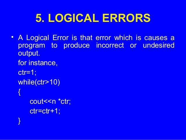 نتيجة بحث الصور عن logical error