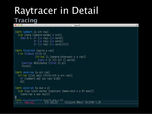 writing a raytracer in common lisp tutorial
