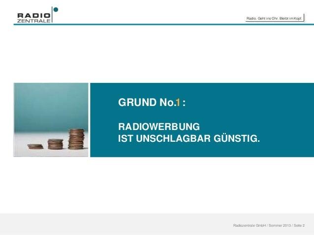 6 gr nde f r radiowerbung update ma 2013 radio ii. Black Bedroom Furniture Sets. Home Design Ideas