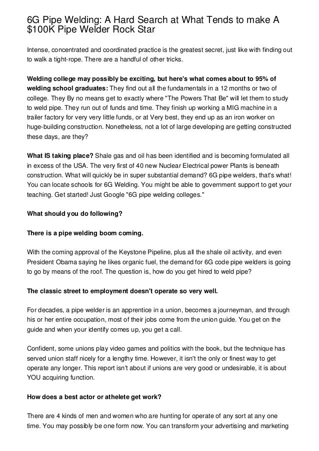 Pipe Welding Resume Examples - Contegri.com