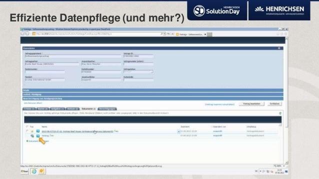 Effiziente Datenpflege (und mehr?)