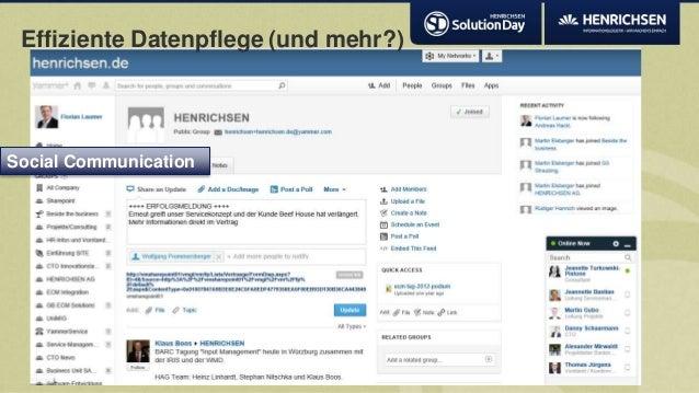 Effiziente Datenpflege (und mehr?)Social Communication