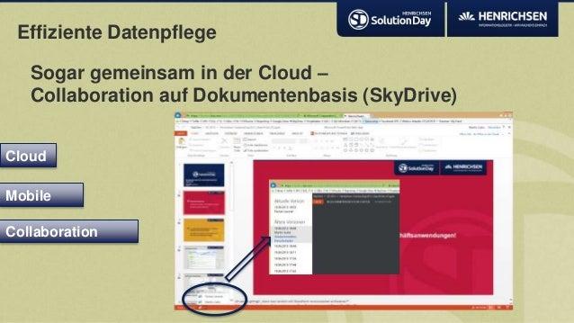 Effiziente DatenpflegeSogar gemeinsam in der Cloud –Collaboration auf Dokumentenbasis (SkyDrive)CloudCollaborationMobile