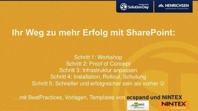 Schritt 1: WorkshopSchritt 2: Proof of ConceptSchritt 3: Infrastruktur anpassenSchritt 4: Installation, Rollout, SchulungS...