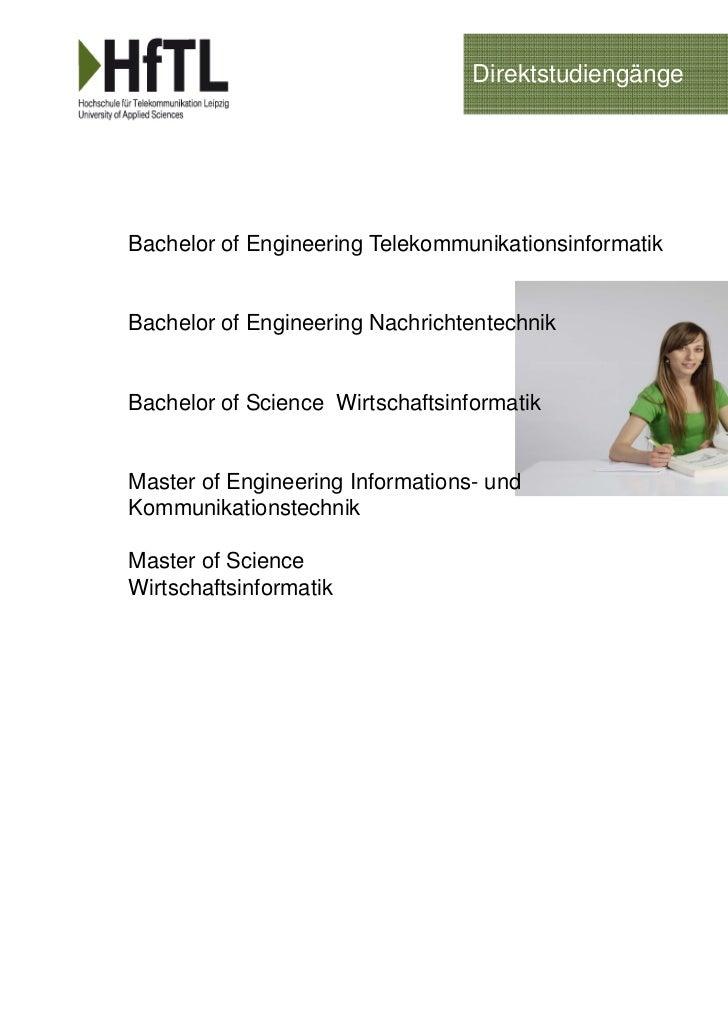 DirektstudiengängeBachelor of Engineering TelekommunikationsinformatikBachelor of Engineering NachrichtentechnikBachelor o...