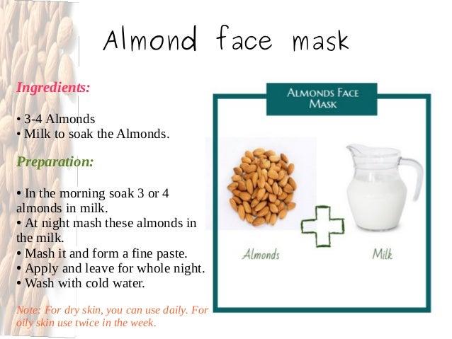 Almond facial mask