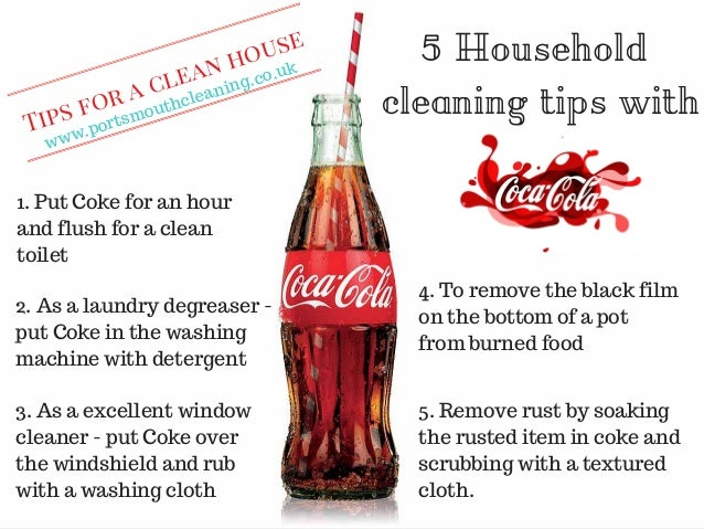 6 household cleaning tips with coca cola - Five tips for quick cleaning ...