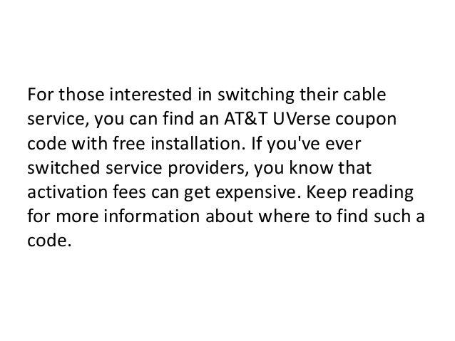 Uverse coupon codes