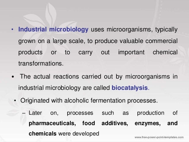 industrial uses of microbes