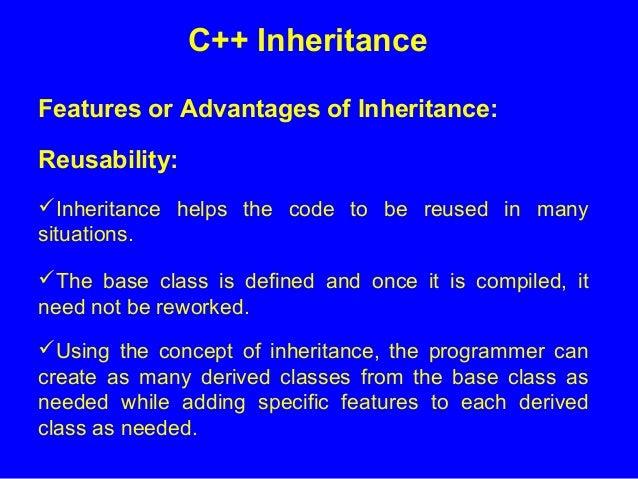 6 Inheritance