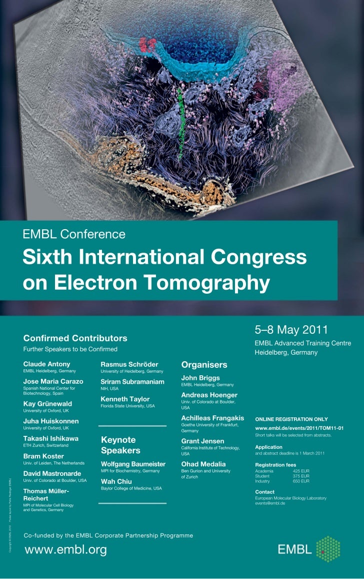 Sixth international congress on electron tomography