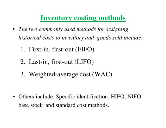 6 inventory valuation